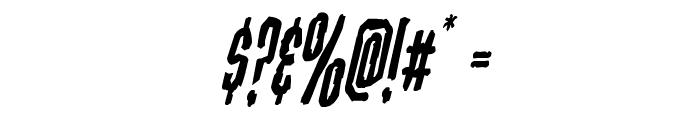 Stranger Danger Condensed Italic Font OTHER CHARS