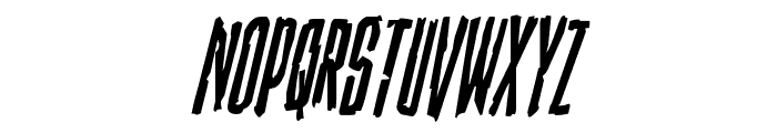 Stranger Danger Condensed Italic Font UPPERCASE