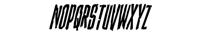 Stranger Danger Condensed Italic Font LOWERCASE