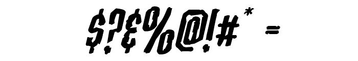 Stranger Danger Expanded Italic Font OTHER CHARS