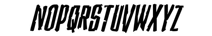 Stranger Danger Expanded Italic Font UPPERCASE