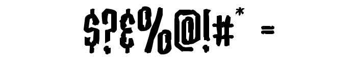 Stranger Danger Expanded Font OTHER CHARS