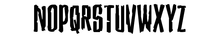 Stranger Danger Expanded Font UPPERCASE