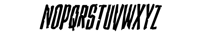 Stranger Danger Italic Font UPPERCASE