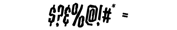 Stranger Danger Rotated Font OTHER CHARS