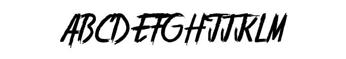 Stranger back in the Night Font UPPERCASE