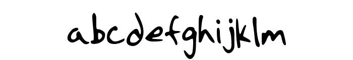 Strassman Script Font LOWERCASE