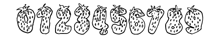Strawberry Regular Font OTHER CHARS