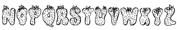 Strawberry Regular Font UPPERCASE