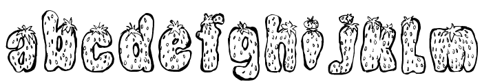 Strawberry Regular Font LOWERCASE
