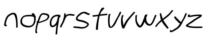 Stray Cat Bold Extended Oblique Font LOWERCASE