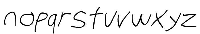 Stray Cat Extended Oblique Font LOWERCASE