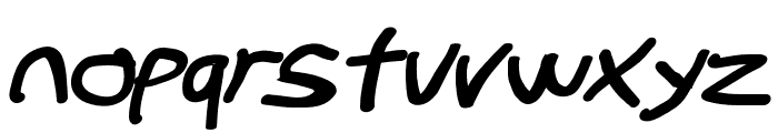 Stray Cat ExtraBlack Extended Oblique Font LOWERCASE