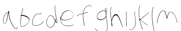 Stray Cat Hairline Extended Font LOWERCASE