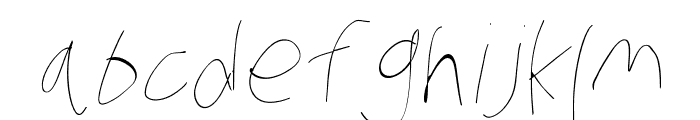 Stray Cat Hairline Oblique Font LOWERCASE