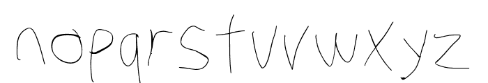 Stray Cat Hairline Font LOWERCASE