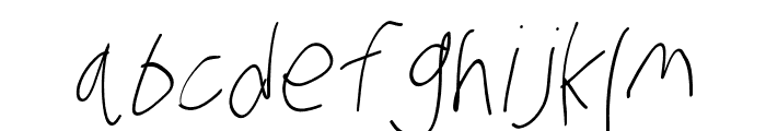 Stray Cat Light Condensed Oblique Font LOWERCASE