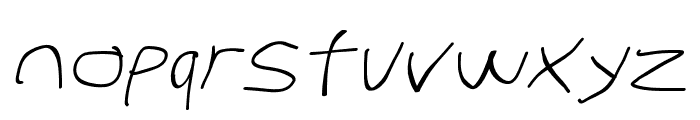 Stray Cat SuperExtended Oblique Font LOWERCASE