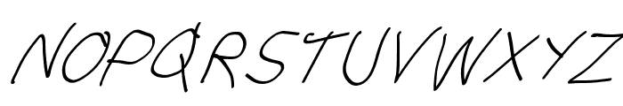 Stray Cat SuperOblique Font UPPERCASE