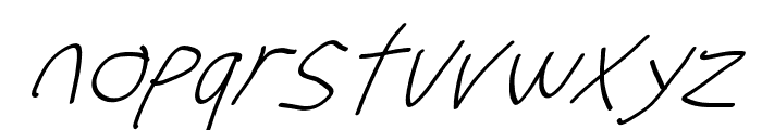 Stray Cat SuperOblique Font LOWERCASE