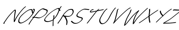 Stray Cat UltraOblique Font UPPERCASE