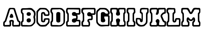 Street College Font UPPERCASE