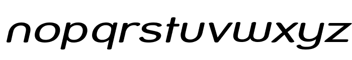 Street - Compressed Italic Font LOWERCASE