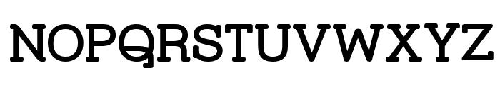 Street Corner Slab Bold Font UPPERCASE
