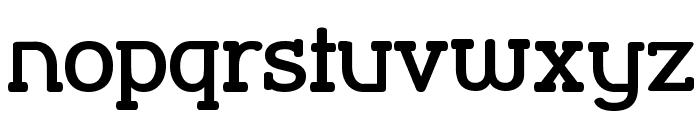 Street Corner Slab Bold Font LOWERCASE