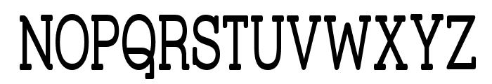 Street Corner Slab Narrow Font UPPERCASE