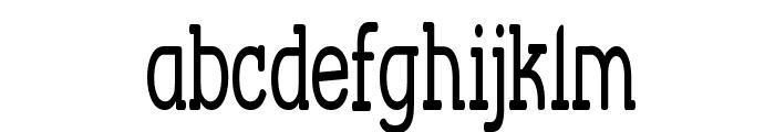 Street Corner Slab Narrow Font LOWERCASE