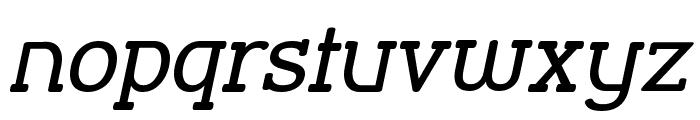 Street Corner Slab Oblique Font LOWERCASE