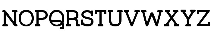 Street Corner Slab SemiBold Font UPPERCASE