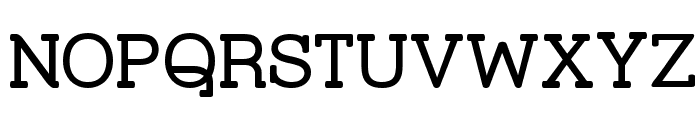 Street Corner Slab Font UPPERCASE