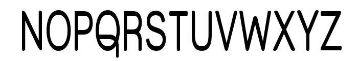 Street Corner Upper Narrow Font UPPERCASE