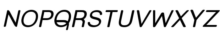 Street Corner Upper Oblique Font UPPERCASE