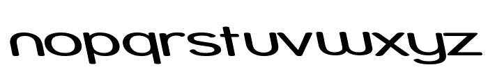 Street - Expanded Reverse Italic Font LOWERCASE