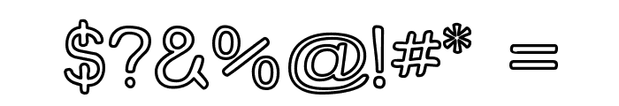 Street Freehand - Outline Font OTHER CHARS
