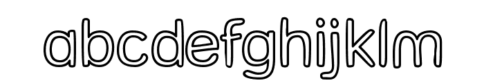 Street Freehand - Outline Font LOWERCASE