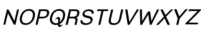Street Italic Font UPPERCASE