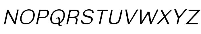 Street  Light Italic Font UPPERCASE