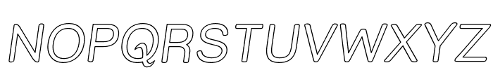 Street Outline Italic Font UPPERCASE