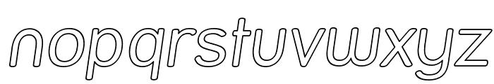 Street Outline Italic Font LOWERCASE