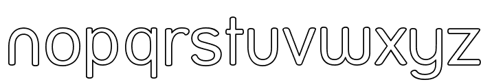 Street Outline Font LOWERCASE