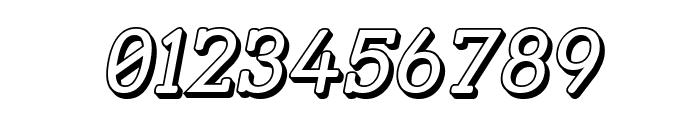Street Slab - 3D Italic Font OTHER CHARS