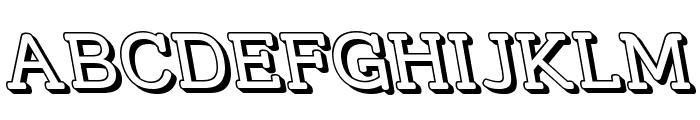 Street Slab - 3D Rev Font UPPERCASE
