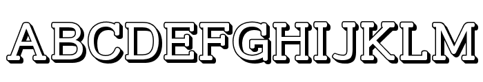 Street Slab - 3D Font UPPERCASE