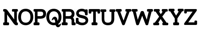 Street Slab Bold Font UPPERCASE