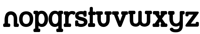 Street Slab Bold Font LOWERCASE