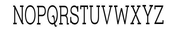 Street Slab Fine Narrow Font UPPERCASE